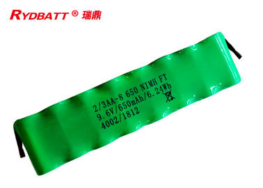 China 8S1P 650mAh 2 3AA 9.6 V Nimh Rechargeable Battery For Electric Tool supplier