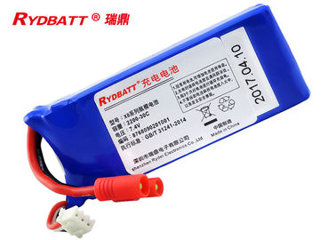 China 908033 Lithium Polymer Battery Pack 2S1P 7.4V 2.2Ah For Electric Aero Model supplier