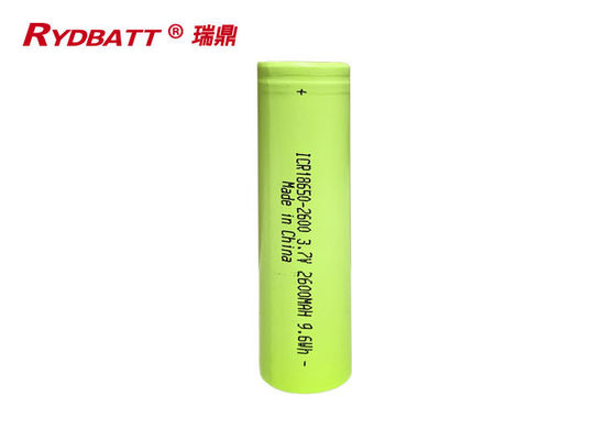 outdoor products 2600mAh 3.7V 9.6Wh Li Ion 18650 Battery Pack